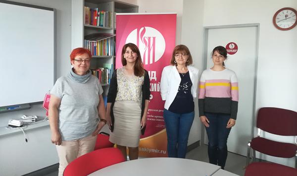 Русский центр в Пече посетили новые сотрудники университета