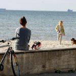 Температура воды на пляжах Эстонии удерживается в районе 20 градусов