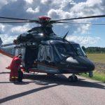 ДТП в Ляэнемаа: водителя доставили в больницу вертолетом