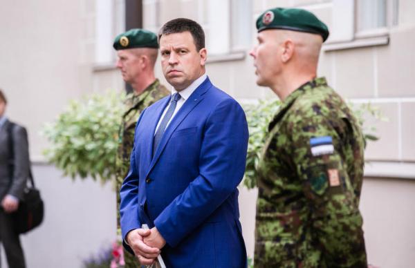 ФОТО: Ратас принял в Доме Стенбока эстонских военных